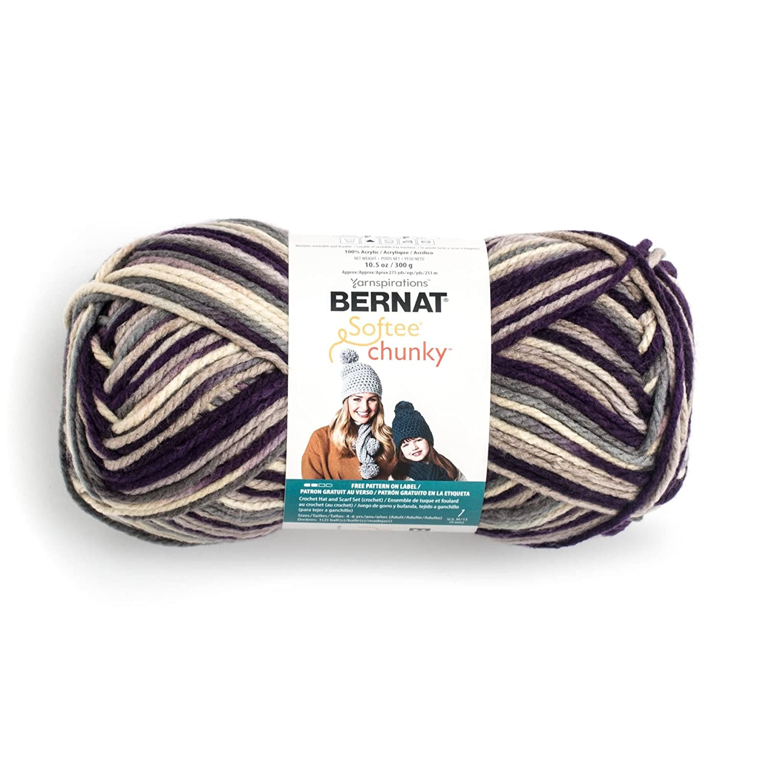 Amazon.com: Bernat Big Ball Chunky Ombre Yarn - (6) Super Bulky ...