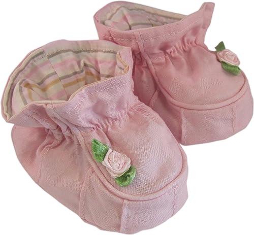 Adorable Baby Girls Boys Pram Padders Booties Shoes Pink Flower