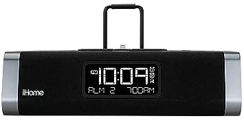iHome IDL45B - Radio (Reloj, FM) Negro