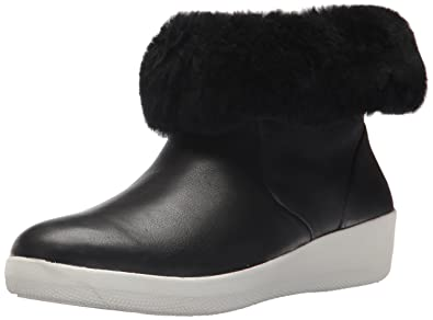 6e2dd7261d22 FitFlop Women s SKATEBOOTIE Leather Boots with Shearling Ankle