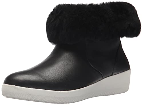 366d089c3ec8e Fitflop Womens Black Skatebootie Shearling Boots  Amazon.co.uk ...