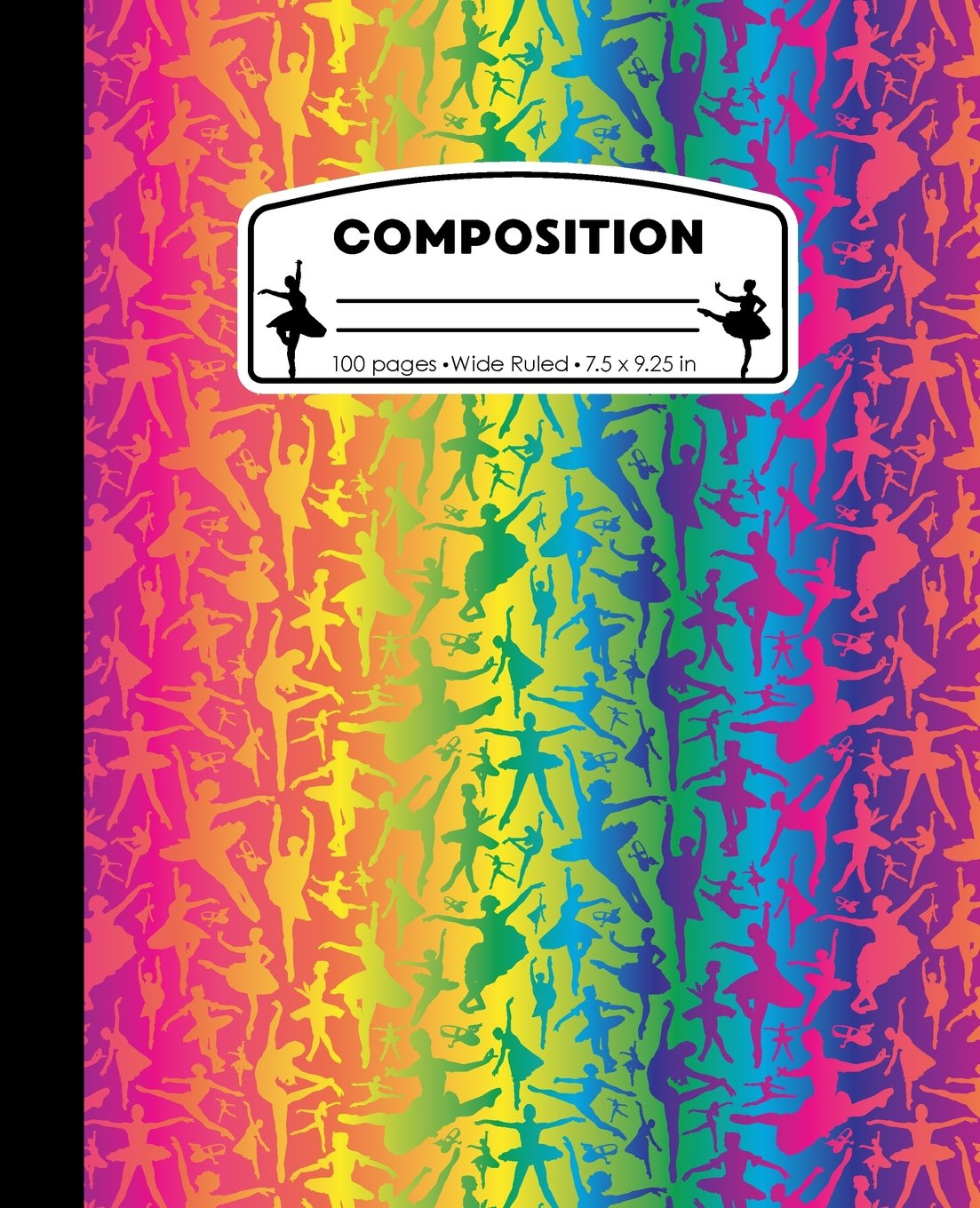 Download Composition: Ballet Neon Rainbow Marble Composition Notebook. Wide Ruled 7.5 x 9.25 in, 100 pages Ballerina Dancer book for girls, kids, school, ... (Ballet Dance Marble Composition Books) pdf