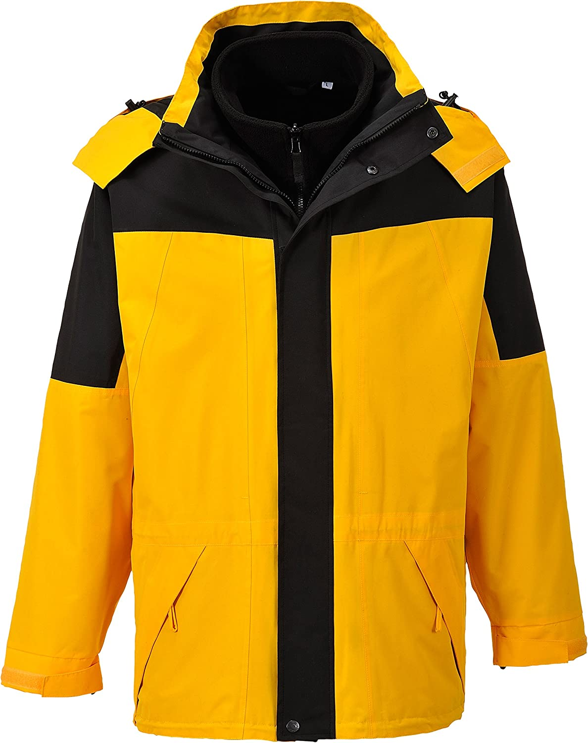Size 3X-Large Regular Portwest S570YERXXXL Aviemore 3-in-1 Mens Jacket Yellow