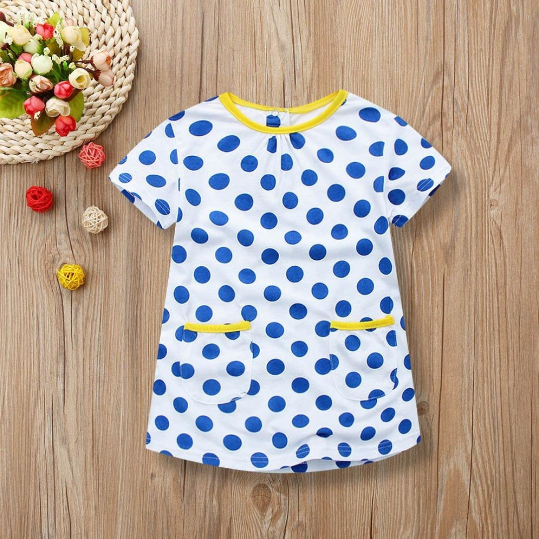 Amazon.com: SMALLE Clearance,Children Kids Girls Summer Short Sleeved Circle Dot Print Dress Clothes: Clothing