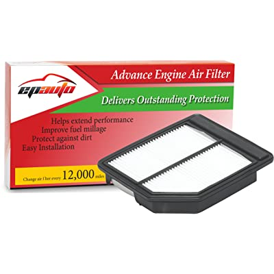 EPAuto GP165 (CA10165) Replacement for Honda Extra Guard Rigid Panel Engine Air Filter for Civic (2006-2011), Suggest Replace with Cabin Air Filter with CP134 (CF10134): Automotive