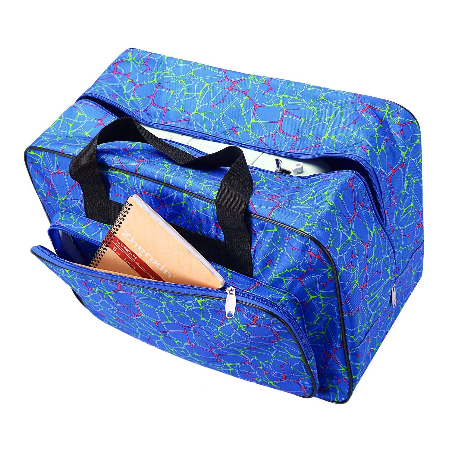 Sewing Machine Carrying Case Tote Bag,Padded Storage Cover Carrying Case with Pockets and Handles ,Canvas,with 3 Pieces Small,Medium and Big Size
