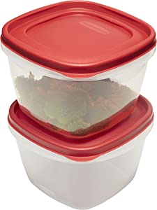 Rubbermaid Easy Find Lids Food Storage Containers, 7 Cup, Racer Red, 4-Piece Set1777181