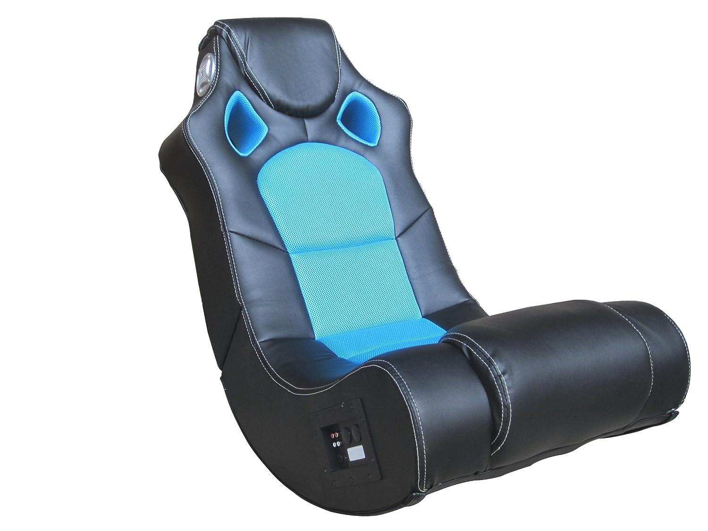 Soundsessel aus Kunstleder mit integriertem Subwoofer 56x98x82 cm Apollon ca in verschiedenen Farben verf/ügbar blau AVANTI TRENDSTORE