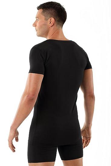 Albert Kreuz Maillot de corps noir coton stretch col v profond manches  courtes - Made in Germany  Amazon.fr  Vêtements et accessoires 4aa3686e8fe5