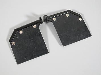 TRACTOR TRAILER BLACK MUD FLAPS GUARDS 1//14 SCREWS KING GLOBE AEROMAX TAMIYA