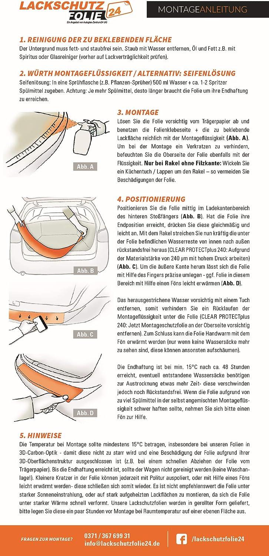 Skoda Citigo ab BJ 03//2012 Facelift 2017//2019 ✓ Anthrazit-Matt//Geb/ürstet ✓ St/ärke 150 /µm Ladekantenschutzfolie /› passgenau f/ür 0,15mm Ladekantenschutz Folie