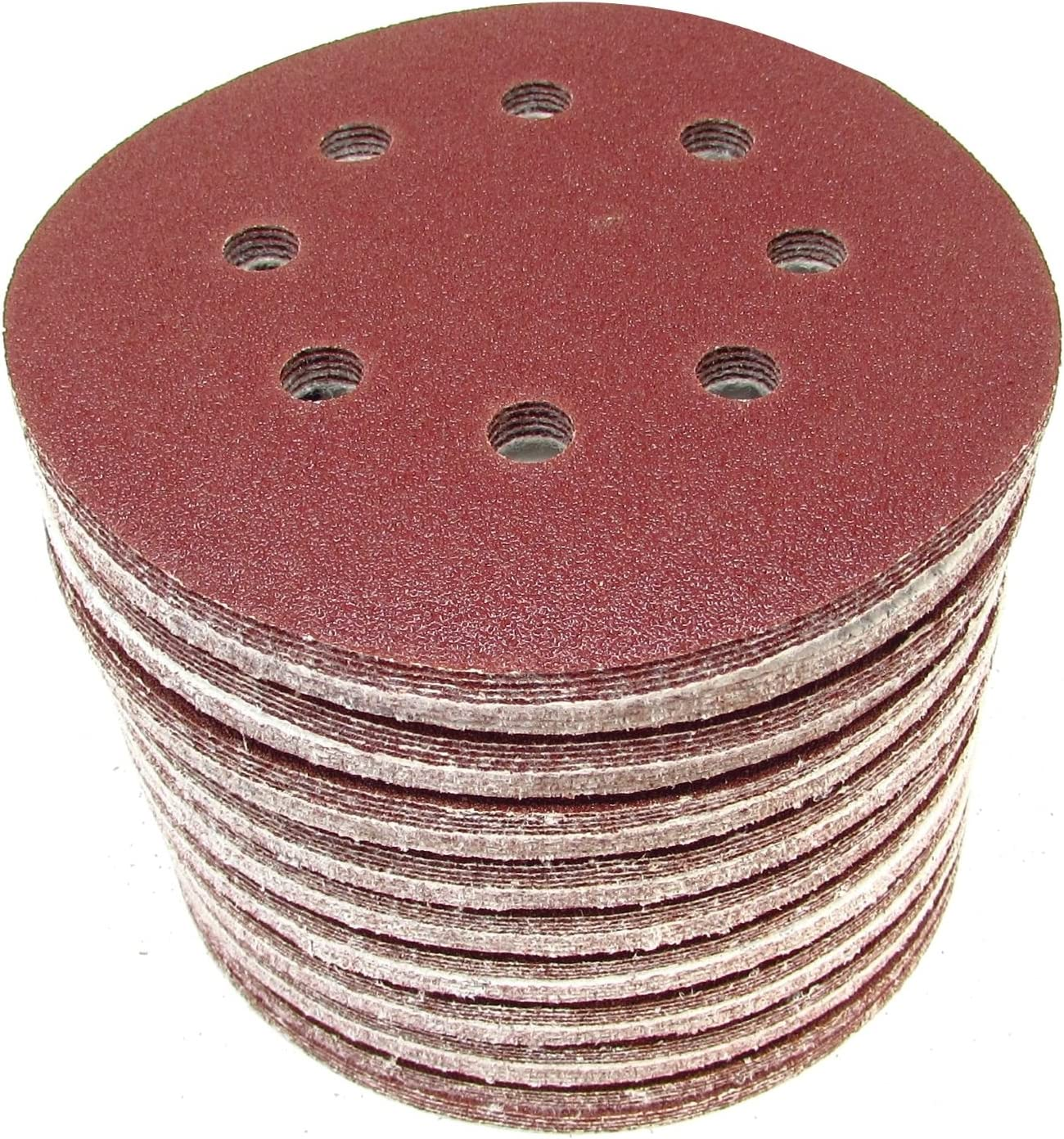 "100 Pack 5/"" Inch 180 Grit No Hole Hook /& Loop Sanding Discs Orbital DA Disks"