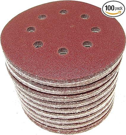 100Pcs 3 Inch Hook And Loop Sanding Disc Sander Round Sandpaper 40-240 Grit