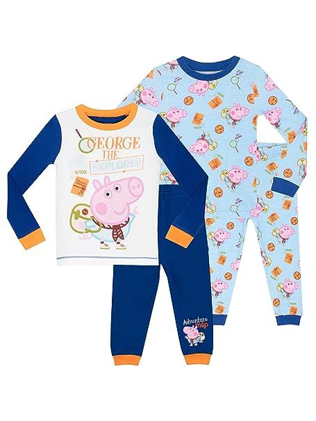 George Pig - Pijama para Niños - George Pig 2 Paquetes - Ajuste Ceñido - 7