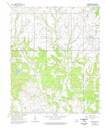 Amazon Com Oklahoma Maps 1963 Harrisburg Ok Usgs Historical