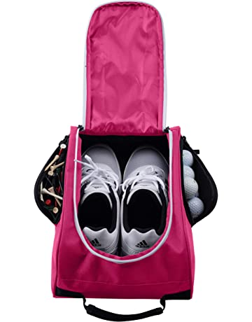 Athletico Golf Shoe Bag - Zippered Shoe Carrier Bags with Ventilation    Outside Pocket for Socks f49c885a7f086