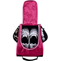 2f5628ce47 Athletico Golf Shoe Bag - Zippered Shoe Carrier Bags with Ventilation &  Outside Pocket for Socks