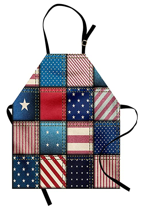 Delantal de Estados Unidos, remiendo de bandera estadounidense con ...