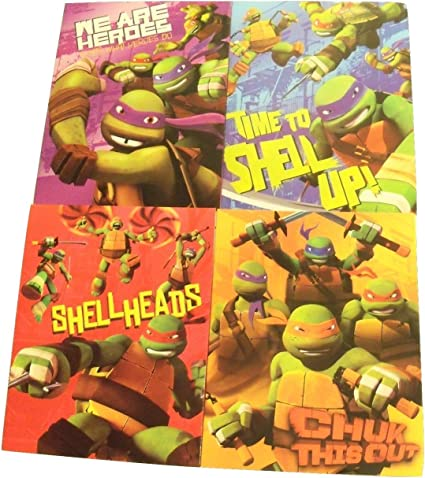 Innovative Design 101 Teenage Mutant Ninja Turtles 4 Folder Set ~ We are Heroes Thats What We Do, Shell Up, Chuck This Out, Shell Heads
