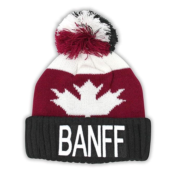 Amazon.com  Banff Sport Warm Winter Hat Beanie True North Travel Canada  Tuque  Clothing 7d9dc7b3eac
