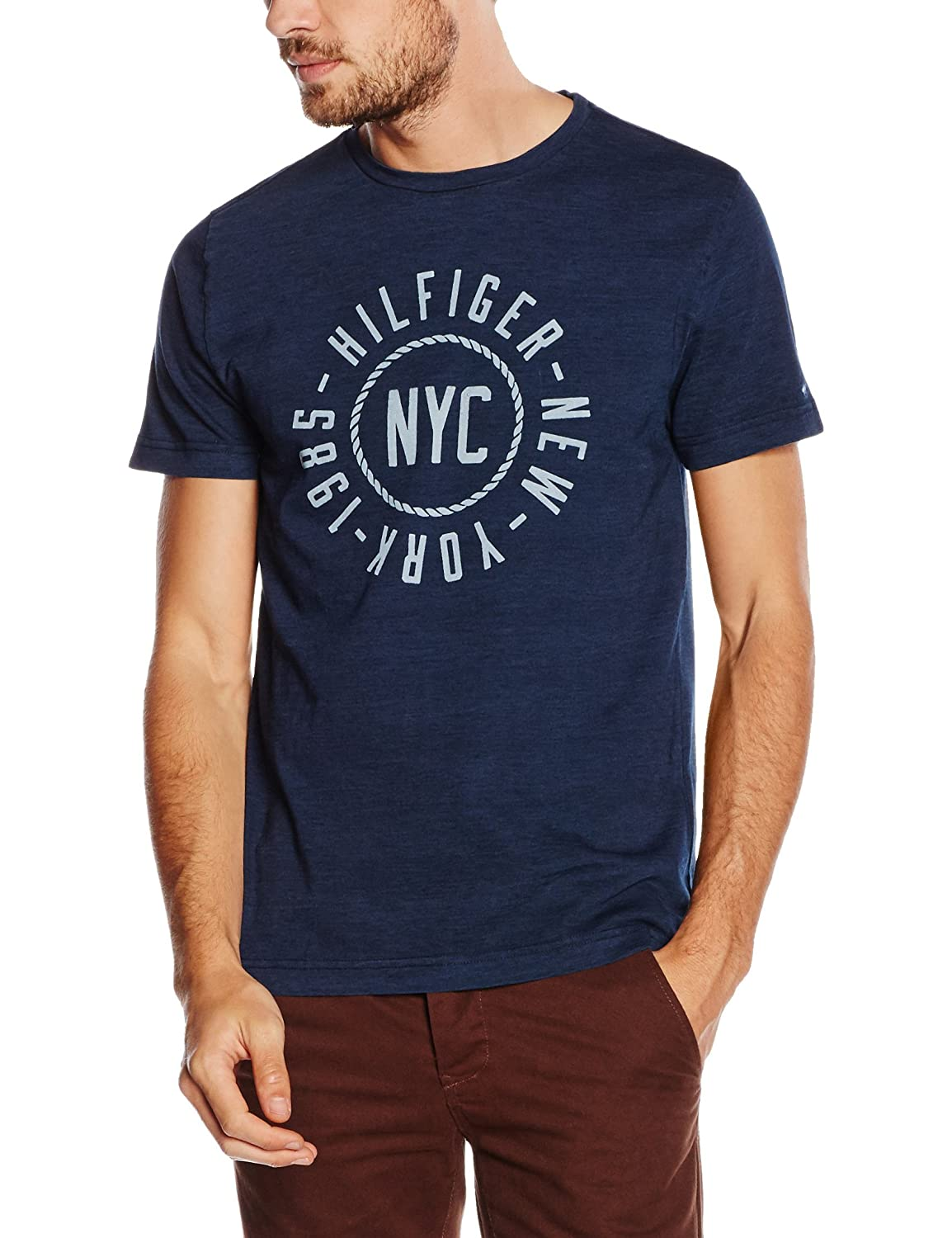 Tommy Hilfiger Men's Koby Ind Tee S/S Rf T-Shirt