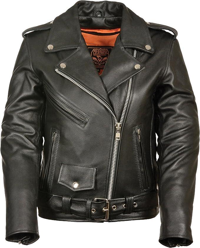 Milwaukee Ladies Motorcycle Leather Jacket