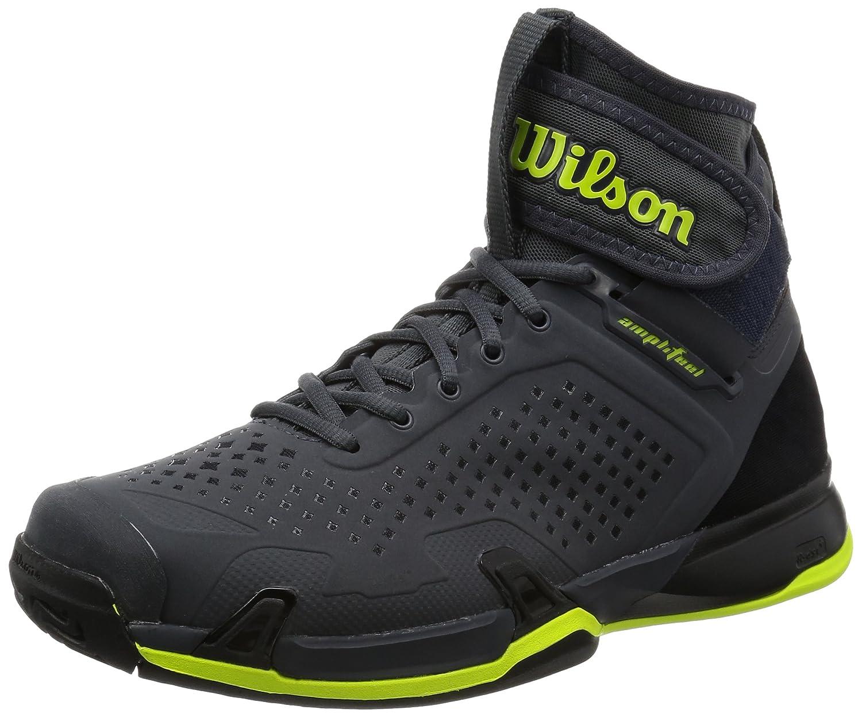 huge selection of 7b261 cbcaa Amazon.com   Wilson Men s Amplifeel Ebony Black Lime Athletic Shoe   Tennis    Racquet Sports