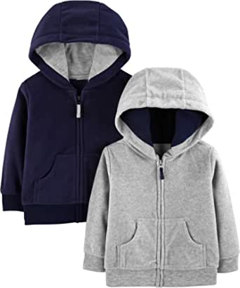 Simple Joys by Carter's Fleece Full-Zip Hoodies Bebé-Niños, Pack de 2