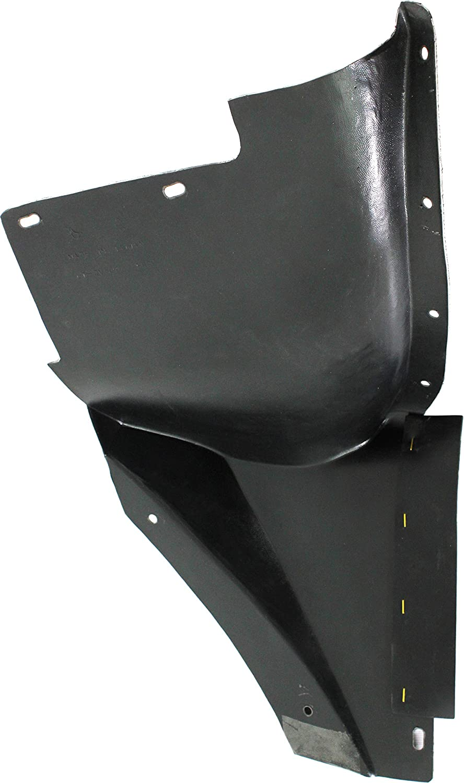 Front Fender Liner Compatible with CHEVROLET CORVETTE 2005-2013 RH Rear Section Base Model