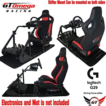 195ab065e6f GT Omega ART Racing Simulator Cockpit RS6 Seat Suitable for the Logitech  G27, G29, G920 , G25 Gaming wheel: Amazon.co.uk: PC & Video Games