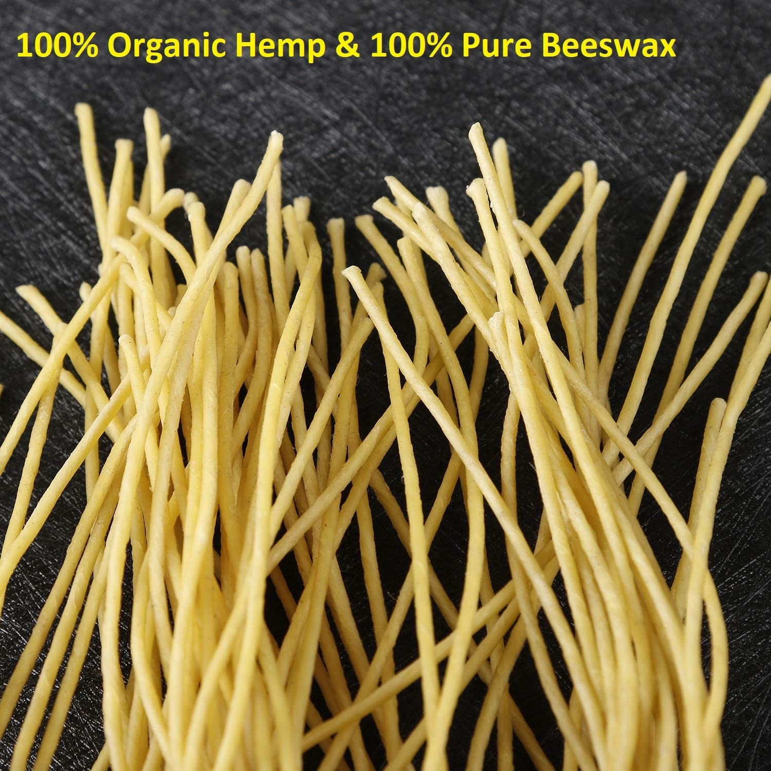 Pre-Waxed by 100/% Natural Beeswax /& Tabbed Beeswax Wicks for Candle Making. MILIVIXAY 10 Inch Hemp Wick,100 Piece Hemp Candle Wicks