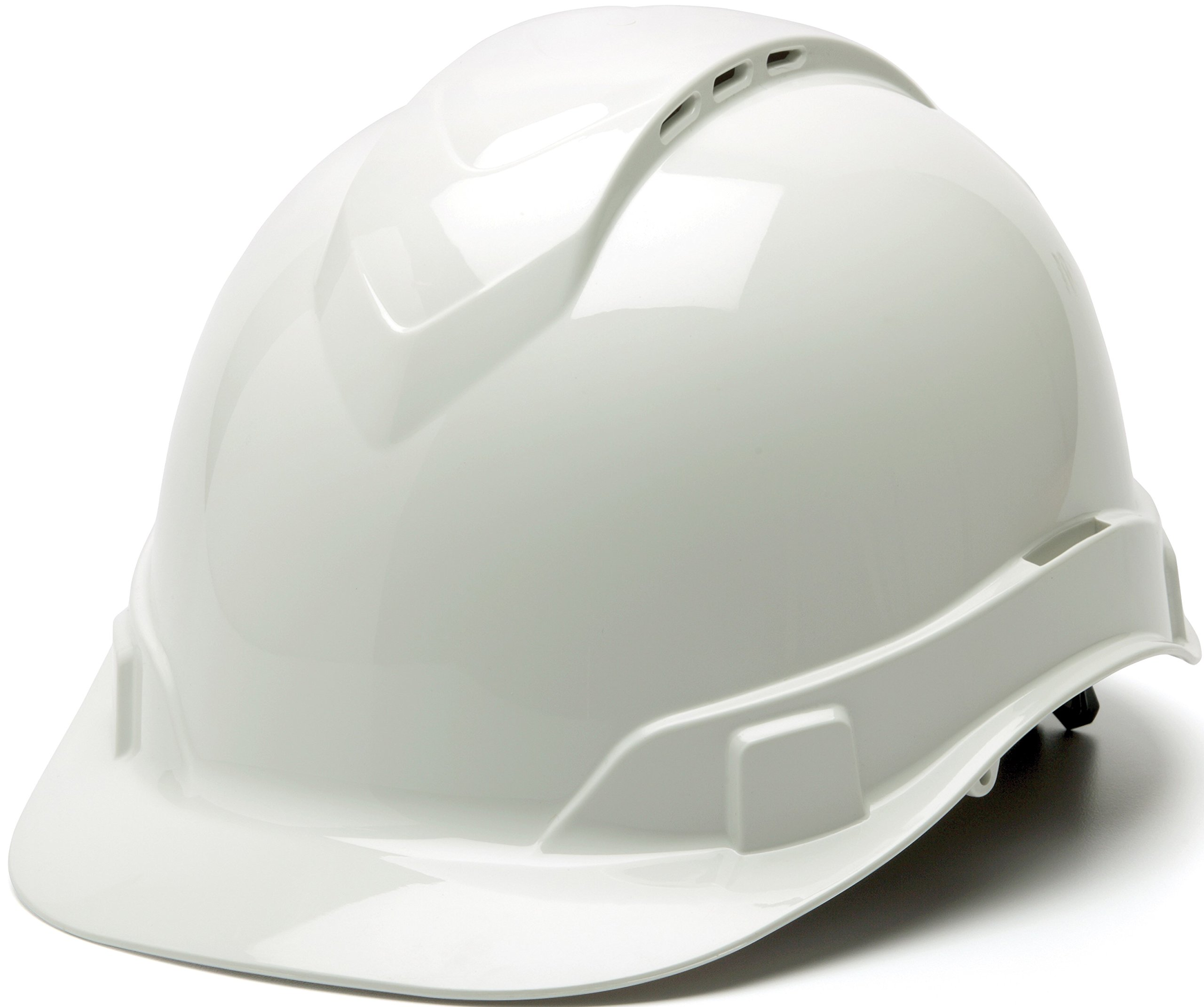 Pyramex Ridgeline Cap Style Hard Hat, Vented, 4-Point Ratchet Suspension, White by Pyramex Safety
