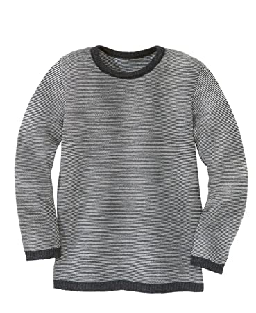 Disana Basic-Pullover - 86 92 - anthrazit grau melange  Amazon.de ... 5f0129a7f1