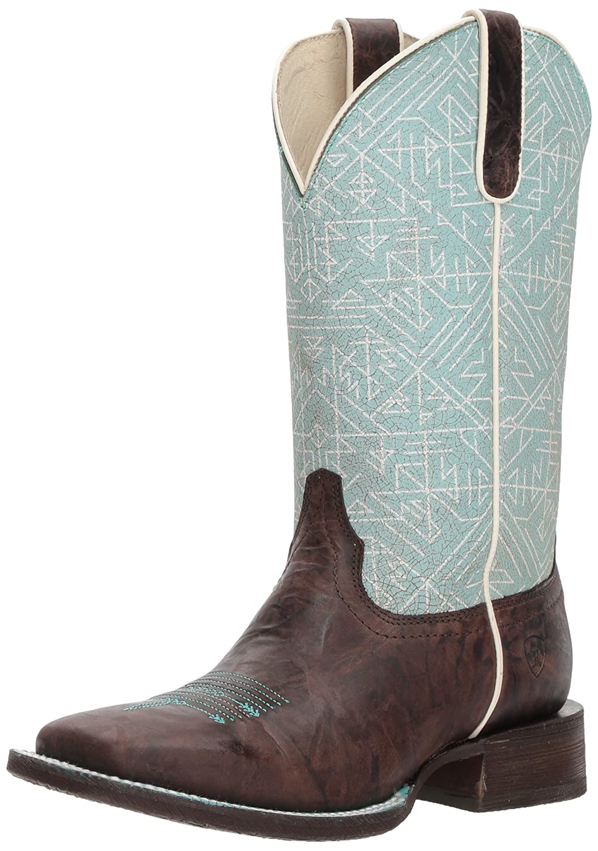 Ariat Women's Circuit Savanna Western Boot B076MBY54R 9 B(M) US|Chief Chocolate/Blue Tribal Print