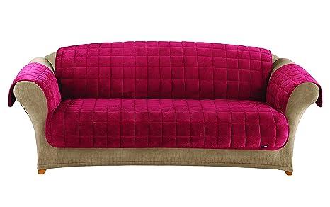 Amazon Com Surefit Deluxe Pet Cover Sofa Slipcover Burgundy