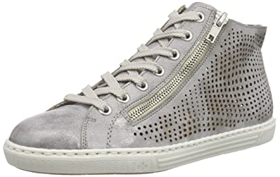 Rieker High Top Sneaker Damen, mittelgrau