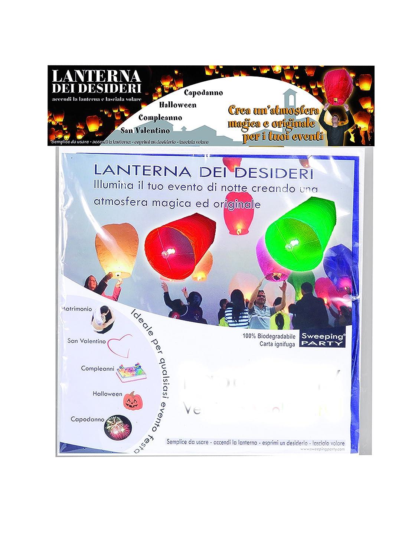 Ciao - Sky Lantern Set 4 Lanterne dei Desideri Colorate, Colori Assortiti Ciao SRL