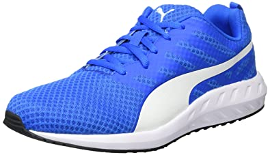 puma beige and blue running sports shoes