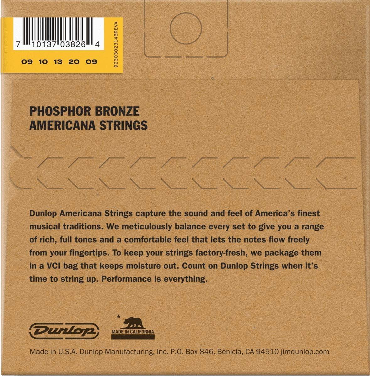 Dunlop Banjo Strings Nickel Light 09//20 5 String Set DJN0920 Americana Series