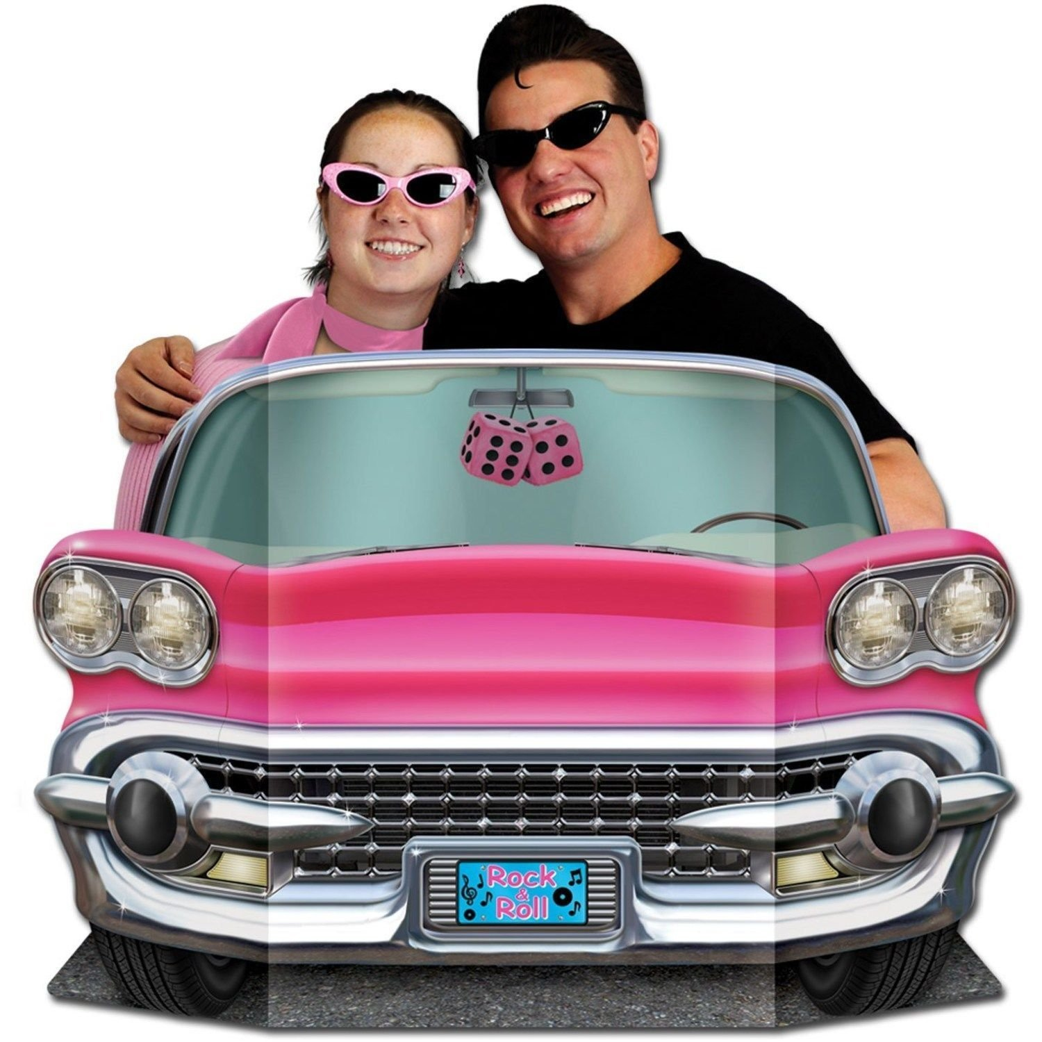Pink Convertible Photo Prop is prefect for both kids and adults.1950's