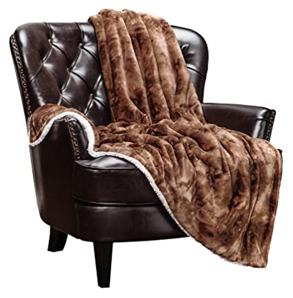 46d76bd9b Chanasya Cloud Print Reversible Velvet Fleece Throw Blanket - for Couch Bed  Sofa Chair Day Nap