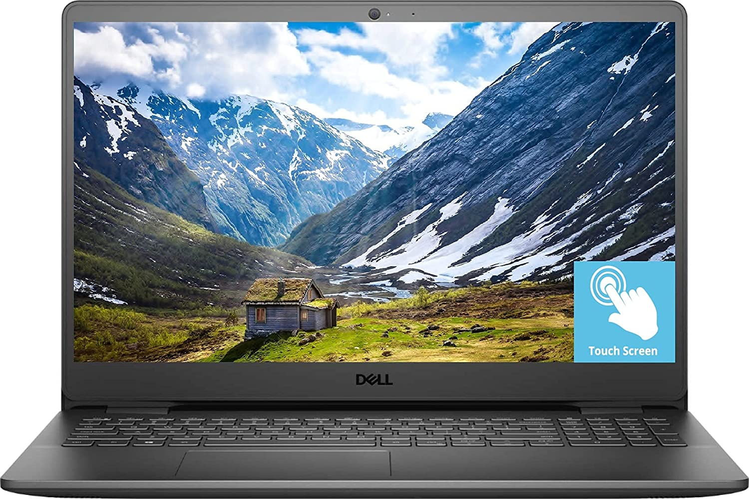 2021 Newest Dell Inspiron 3000 Laptop, 15.6 FHD Touch Display, Intel Core i5-1035G1, 12GB DDR4 RAM, 1TB Hard Disk Drive, Online Meeting Ready, Webcam, WiFi, HDMI, Bluetooth, Windows 10 Home, Black