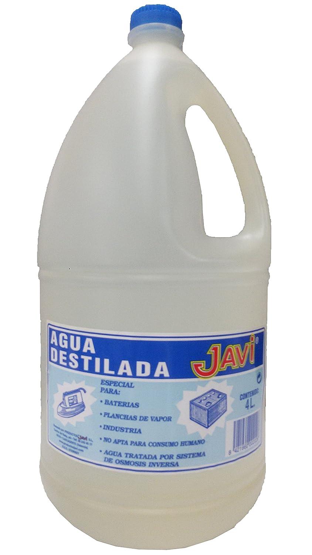 Agua Destilada Javi 4 Lt. Especial para baterí as, planchas, laboratorios, etc.