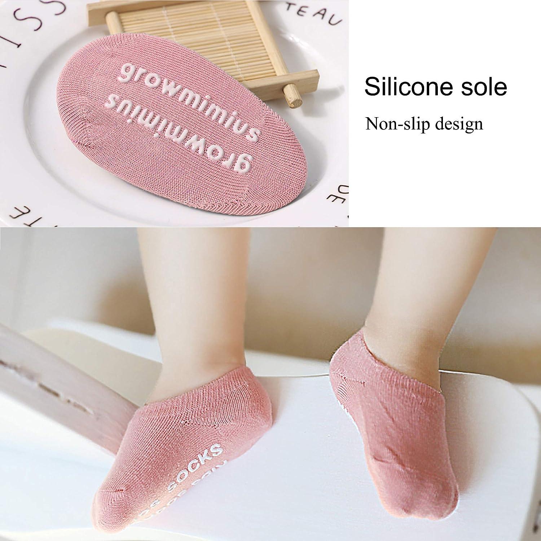 QH-shop 3 Pares Rodilleras para Beb/és y 3 Pares Calcetines con Silicona Antisdeslizantes Almohadillas para Ni/ño Rodilla Codo Almohadillas Leg Warm 0-24 Meses