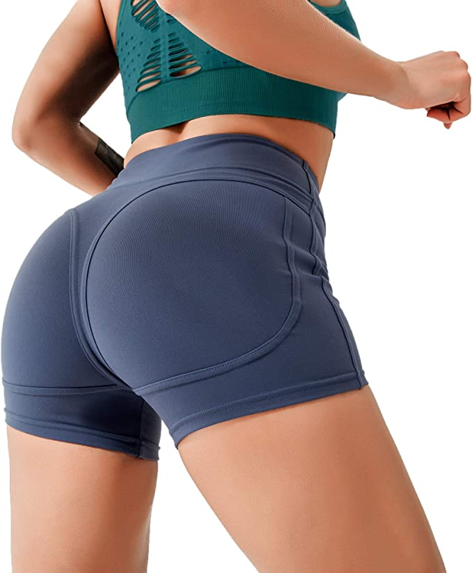 Amazon.com: LOFHAS Hight Waist Seamless Shorts for Women ...