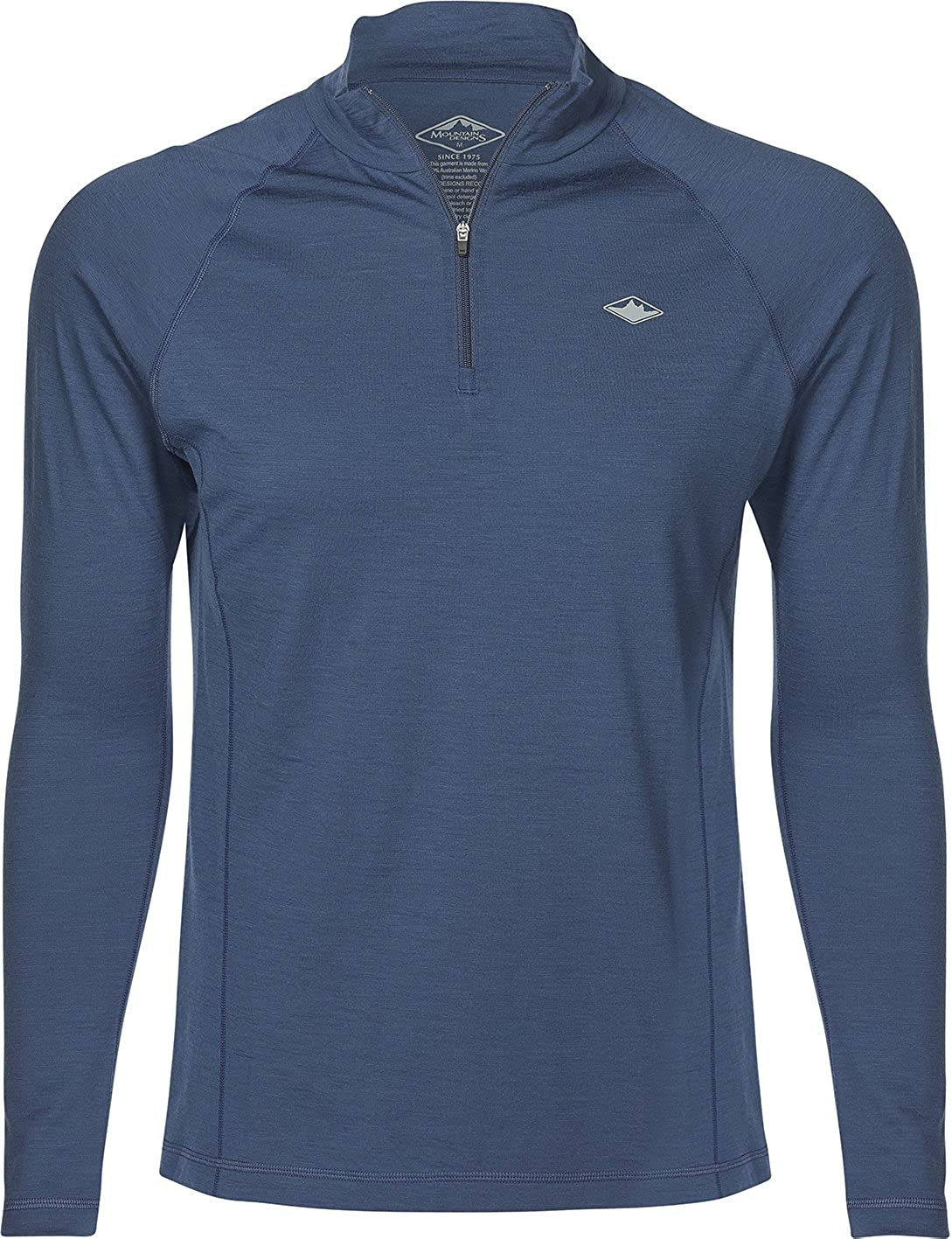 Mountain Designs Mens Merino Wool 1//4 Zip Long-Sleeve Baselayer Top