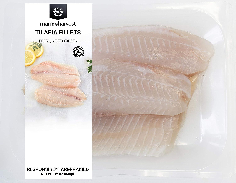 Fresh Tilapia Fillets, Farm-Raised, 12 oz