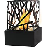 Purline AMALTEA Black Small Tabletop Fireplace