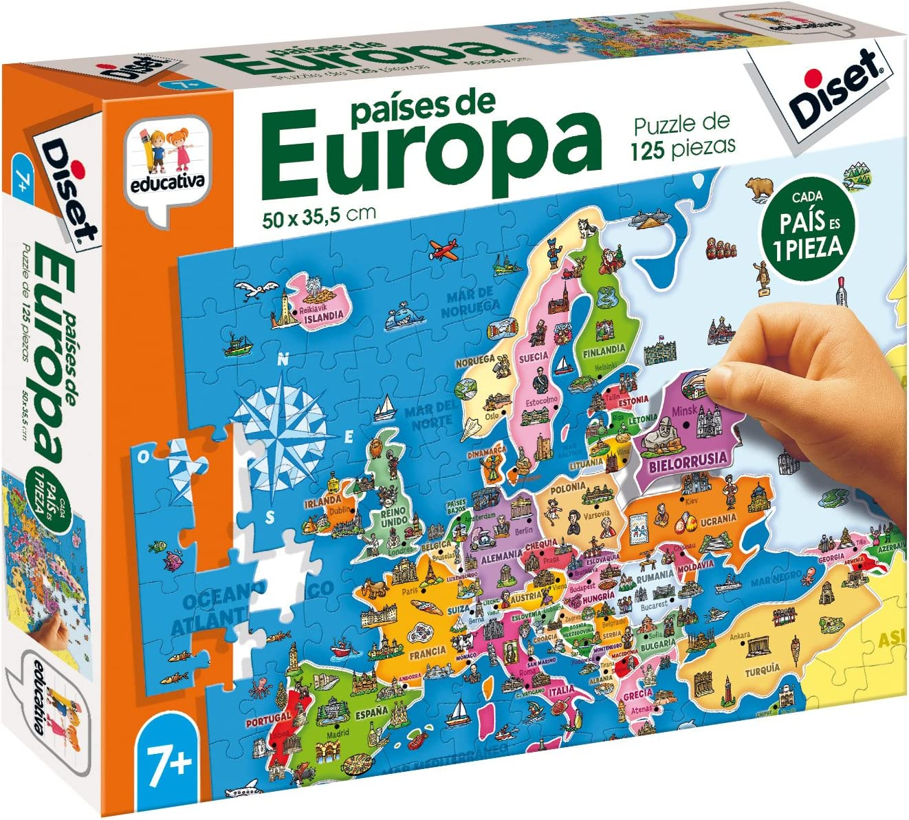 Diset- Juguete educativos Paises De Europa (68947) , color/modelo surtido: Amazon.es: Juguetes y juegos