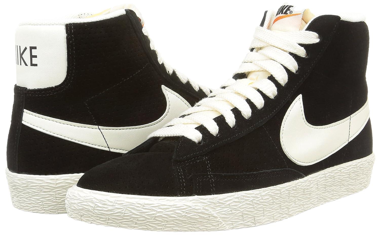 Nike Blazer Haute Chargeur De Nylon Noir Et Blanc